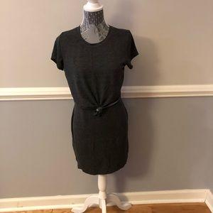 Jrs Guess Faux Tie Front T Shirt Dress Size L
